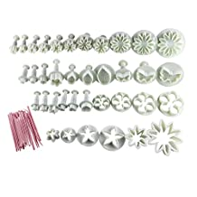 Sonline Cake Tools 44pcs Flower Fondant Cake Sugarcraft Decorating Kit Cookie Mould Icing Plunger Cutter Tool