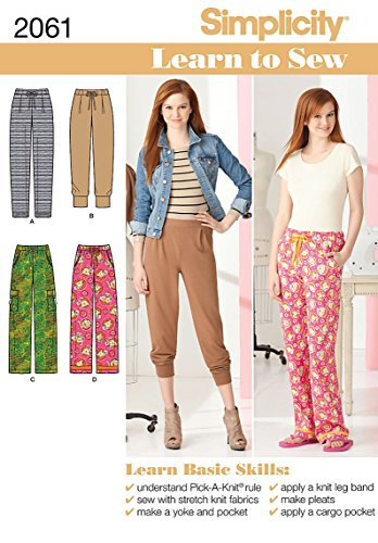 Simplicity Sewing Pattern 2061: Learn To Sew Misses' Knit And Woven Pants, A (6-8-10-12-14-16-18)