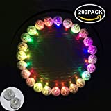 Neo LOONS 200pcs/lot 200 X Multicolor Round Led Flash Ball Lamp Balloon Light Long Standby Time for Paper Lantern Balloon Light Party Wedding Decoration