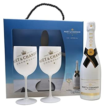 Moët & Chandon Ice Impérial Gift Set Champagne & Moët & Chandon Champagne Flutes x 2: Amazon.co.uk: Beer, Wine & Spirits