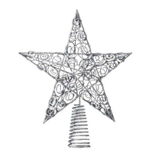 Kurt Adler 10-Inch Silver Star Treetop Deal (Large Image)
