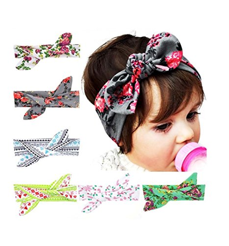 My Little Baby 6 pack Baby Girl Newest Soft Turban Headband (Pretty Girl Outfits)
