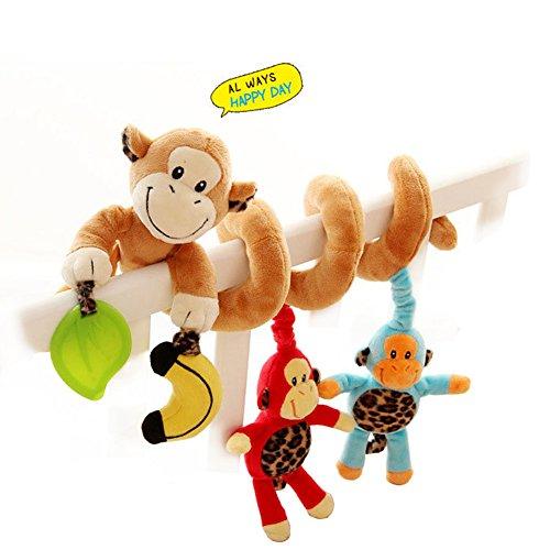 Unetox Baby Crib Activity Spiral Wrap Around Plush Toy Cute