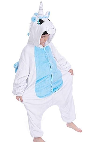 YOGLY Pijamas de Franela de Niños Unicornio Pijamas de Animales de Dibujos Animados de Invierno