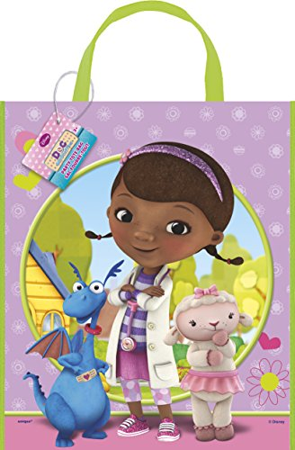 Large Plastic Doc McStuffins Goodie Bag, 13
