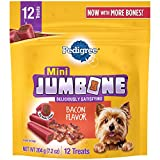 Pedigree Jumbone Bacon Flavor Mini Dog Treats - 7.2 Ounces (Pack of 8)