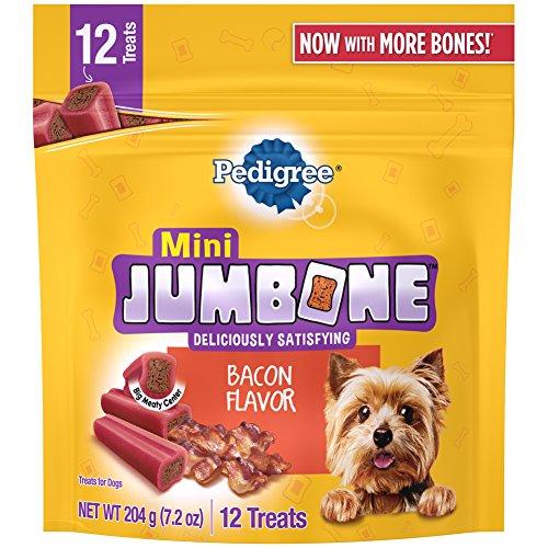 Pedigree Jumbone Bacon Flavor Mini Dog Treats - 7.2 Ounces (Pack of 8)