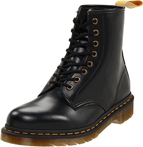 Dr. Martens Unisex Vegan 1460 8 Eye Dress Boots, Black Vegan Leahter, 6.5 M UK, M7.5/W8.5 M - Mens Marten Dress Shoes Dr