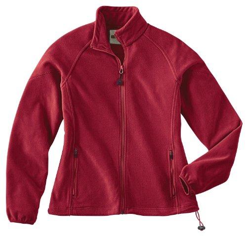 Ladies' Microfleece Unlined Jacket, Color: Crimson, Size: 2X-Large