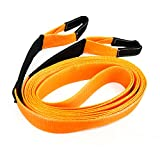 Spurtar Polyethylene Towing Straps, 6.8 Ton, 354''x3'' Heavy Duty Tow Rope with up to 30000lb Break Strength Towing Recovery