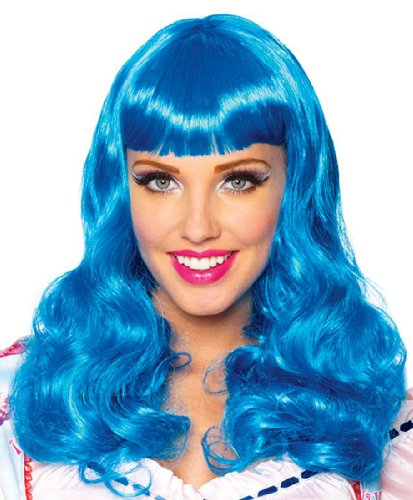 Katy Perry Blue Party Girl Wig, One Size (Halloween Rave)