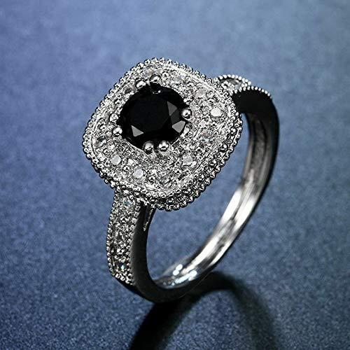Waldenn Women Man 925 Silver Aquamarine Sapphire Wedding Vintage Prom Ring Size 6-10 | Model RNG - 14536 | ()