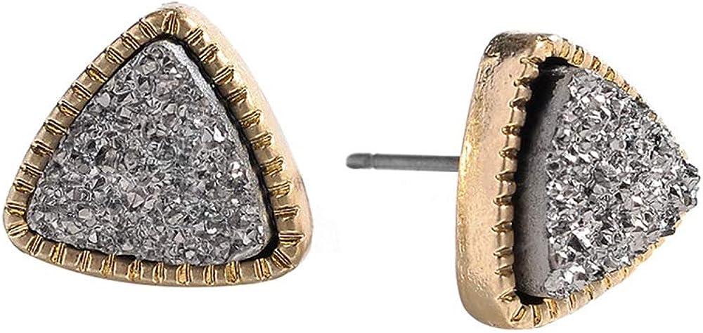 Moda Espumoso Triángulo Piedras Preciosas Pendientes Mujer Pendientes de oreja