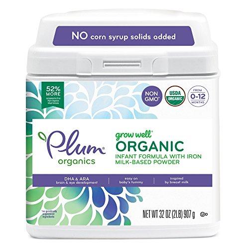 Plum Organics Grow Well Organic Infant Formula, 32 Ounce