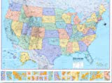 U. S. Wall Map, Hammond World Atlas Corporation Staff, 0843714727