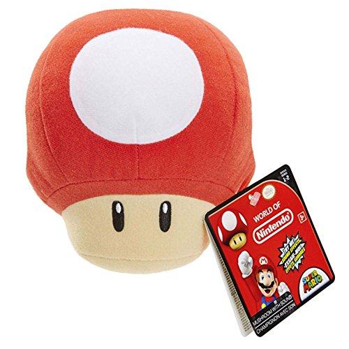 Mushroom Plush - Nintendo SFX Plush - Red Power Up Mushroom