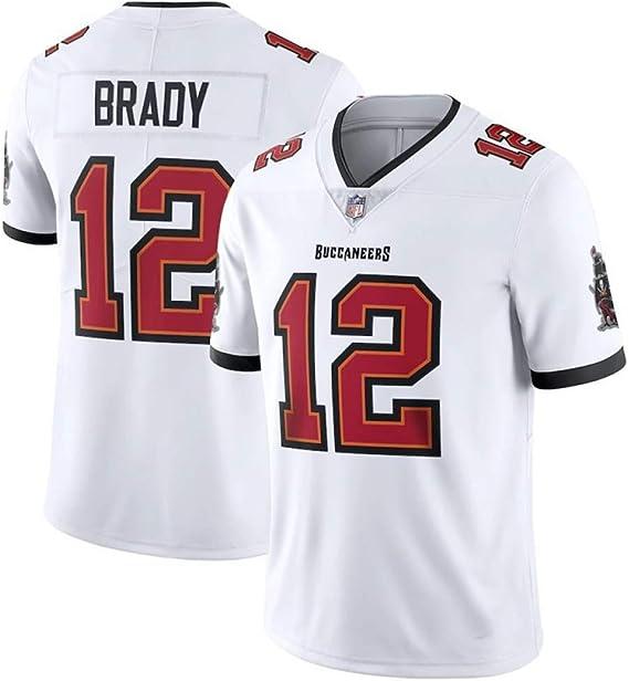 LAVATA Hombres NFL Rugby Jersey Camiseta De Fútbol Tampa Bay Buccaneers 12# Tom Brady Camisetas De Fans De Uniformes De Rugby Unisex Imprimir Top Manga Corta para Hombres: Amazon.es: Deportes y aire