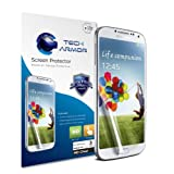 Tech Armor Samsung Galaxy S4 Premium High Definition (HD) Clear Screen Protectors with Lifetime Replacement Warranty [3-PACK] - Retail Packaging