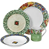 Corelle Impressions 16-Piece Dinnerware Set, Service for 4, Watercolors