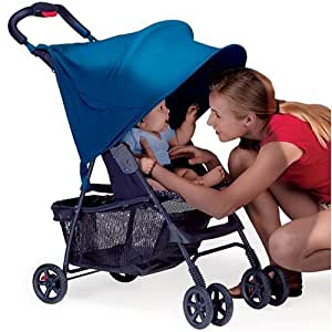 RayShade® UV Protective Stroller Shade Improves Sun Protection for Strollers, Joggers and Prams Navy (Discontinued by Manufacturer)