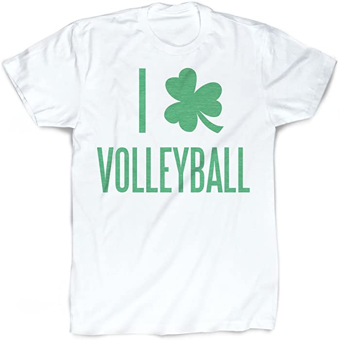 c41d46c3 ChalkTalkSPORTS I Shamrock Volleyball T-Shirt | Vintage Faded Volleyball  T-Shirt Adult Small