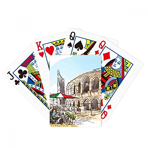 Italy Colosseum Architecture Pattern Poker Playing Cards Tabletop Game Gift by beatChong