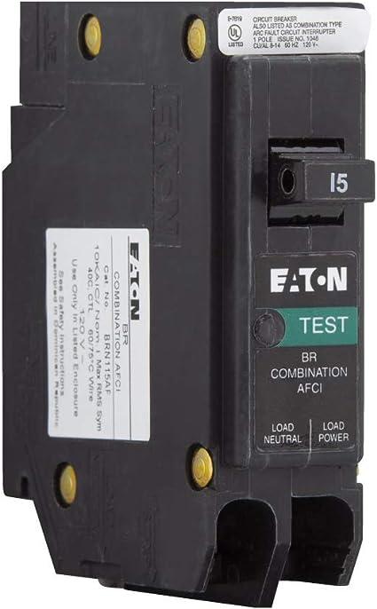 EATON CUTLER HAMMER BRN115AF CIRCUIT BREAKER 15 AMP COMBINATION AFCI