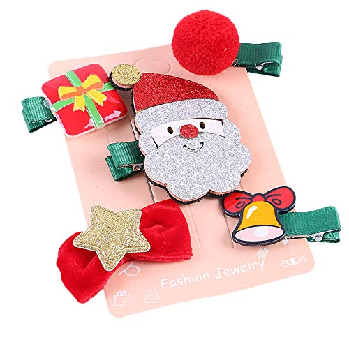 5 Pack Kids Infant Baby Girls Christmas Bow