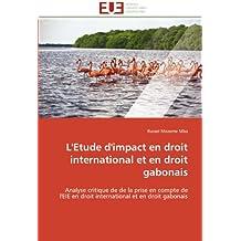 ETUDE D'IMPACT EN DROIT INTERNATIONAL ET EN DROIT GABONAIS (L')