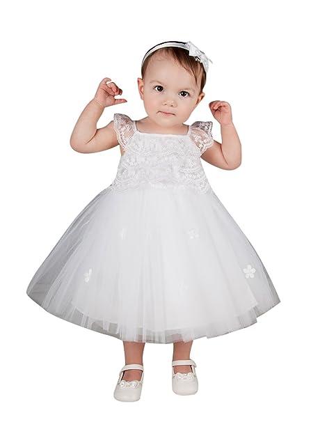 Boutique-Magique - Ropa de Bautizo - para bebé niña Blanco 12 Meses