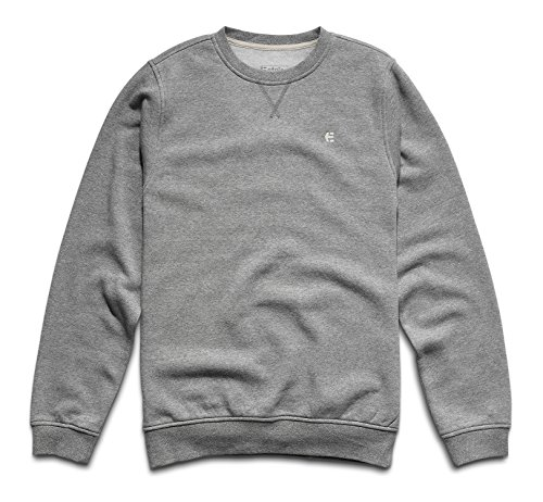 Sweatshirt Mens Etnies (Etnies Men's Classic Crew Sweatshirt, Light Grey, Medium)