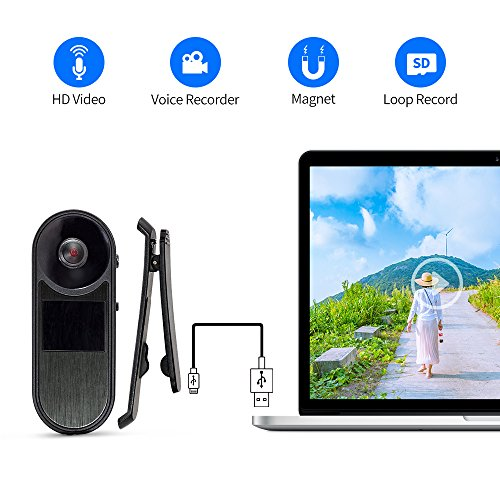 Body Camera Voice Recorder USB HD Body Worn Camera Mini Camera Nanny Wearable Camera Built-in Rechargeable Battery