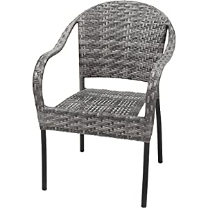 Amazon.com : Resin Wicker Patio/Outdoor Dining Arm Chair, Set of 2 ...
