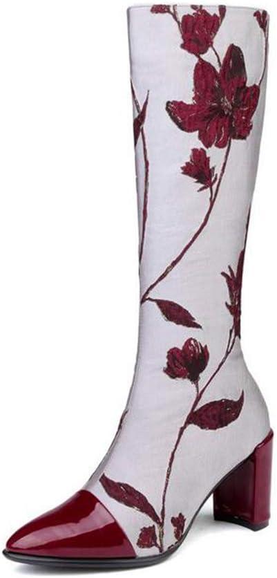 Hy Chaussures pour Femmes, Bottes Longue