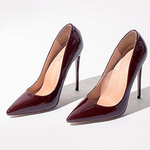 de taille hauts l shoes Single seule à female sexy peu 8cm profondes Couleur mariée chaussures 12cm Height haute bouche avec vin une avec Super Chaussures Shoes 35 8cm 10cm 12cm Height talons rouge xqpwpYdRA