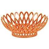 TableTop King OB-940-RO Rio Orange Oval 10'' x 8 1/4'' Plastic Fast Food Basket - 12/Pack