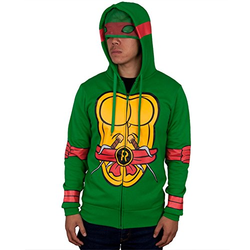 Teenage Mutant Ninja Turtles I Am Costume Zip Up Hoodie (Small, -