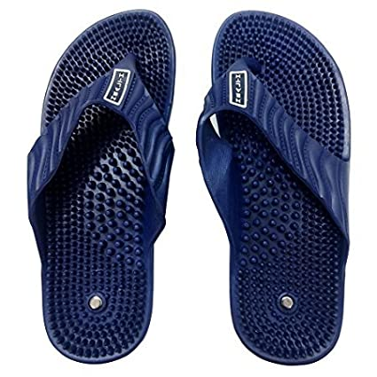 04267ceebdc Aci Acupressure Health Care India Acupuncture Foot Healthy Massage Slipper  For Unisex - Blue  Amazon.in  Health   Personal Care