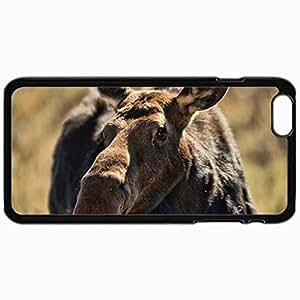 Fashion Unique Design Protective Cellphone Back Cover Case For iPhone 6 Case Elk Snout Macro Black