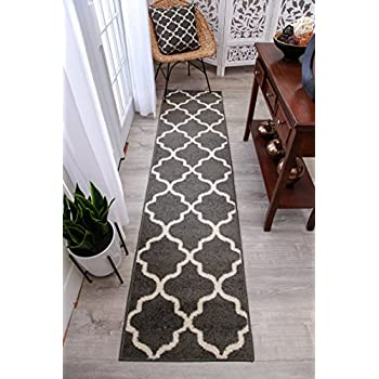 Amazon Com Gray Moroccan Trellis 2 0x7 6 Area Rug Carpet