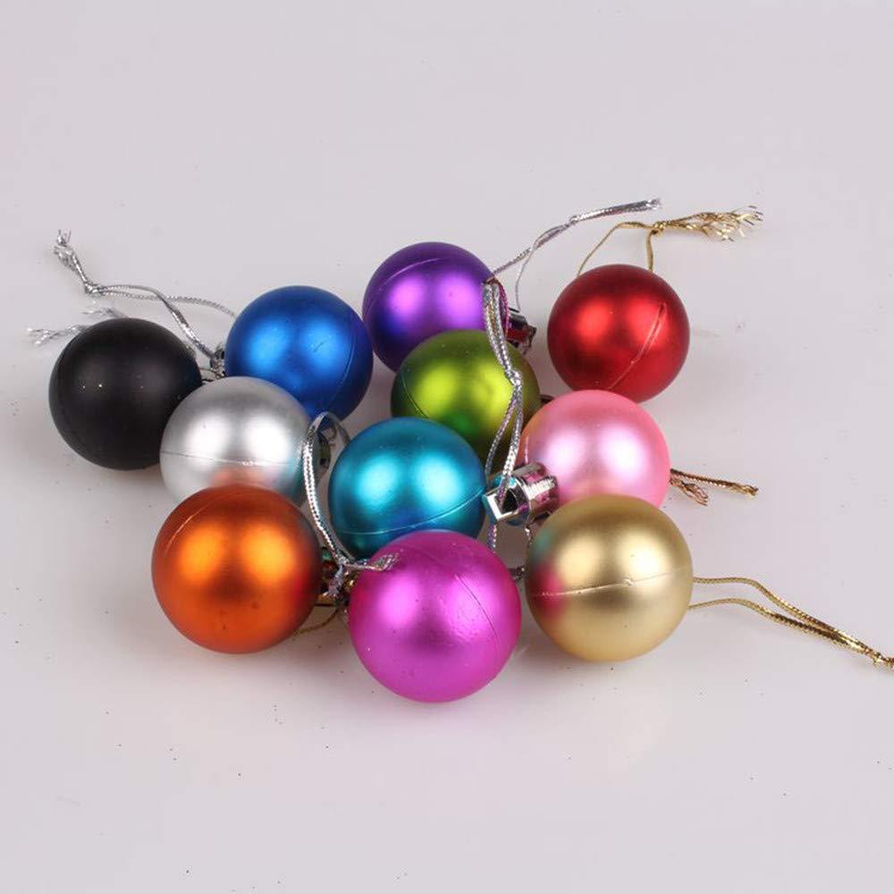 Gaddrt 48PCS 30/mm Albero di Natale Appeso Ornamento Bauble Home Decor Sky Blue