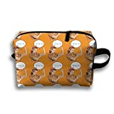 Bxsnd Super Mom Fine Unisex Oxford Cosmetic Bag Cute Travel Zipper Pouch Novelty Cosmetic Pouch