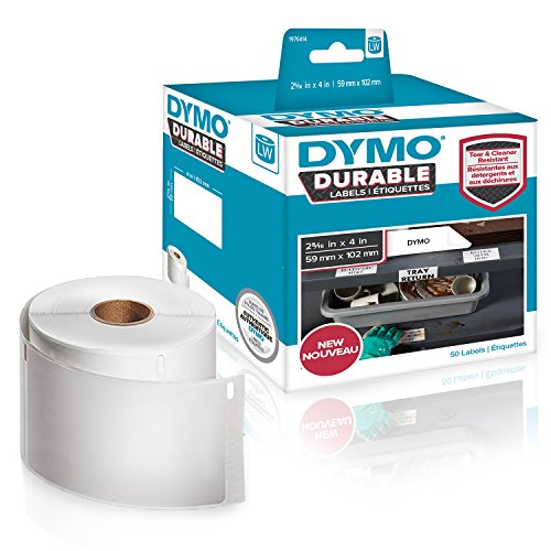 DYMO LW Durable Labels for LabelWriter Label Printers, White Poly, 2-5/16