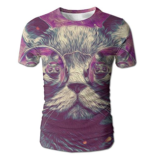 Cool Cat Sunglasses Men's Summer 3D Graphic Printed Short Sleeve - Dylan Bob Sunglasses In