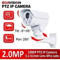 1080P Outdoor Bullet PTZ IP Camera With POE,SD Card Slot,10X Zoom,2.0MP CCTV Rotary IP Camera,Onvif, iPhone Android View