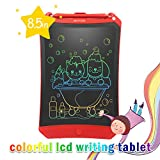 LCD Writing Tablet, 2019 Upgraded Colorful Screen 8.5 Inch Electronic Writing Board Doodle and Scribble Board Magnetic Memo Notes Comes with 1 Lanyard for Kid & Adults (Red)