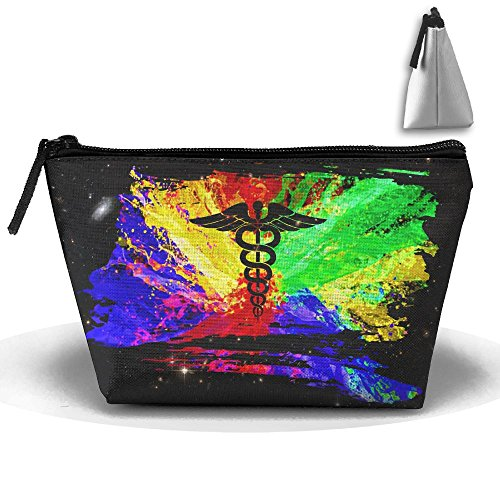 Rainbow Gay Graffiti Paint EMT Large Portable Cosmetic Bag Pouch Tote Handbag Work Bag With - Sunglasses Emt
