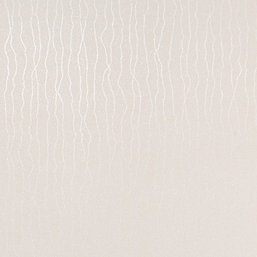 Brilliance White Modern Wallpaper for Walls - Double Roll - By Romosa Wallcoverings LL7517
