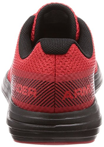 Under Armour Boys' Grade School Surge RN Sneaker Red (600)/Black 4 by Under Armour (Image #2)