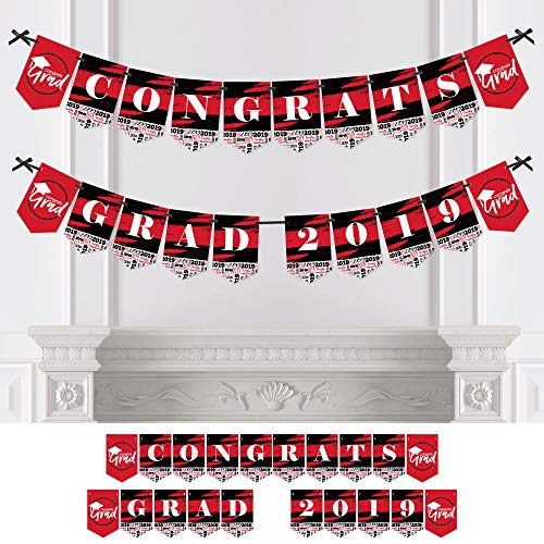 Red Grad - Best is Yet to Come - Red Graduation Party Bunting Banner - Party Decorations - Congrats Grad -